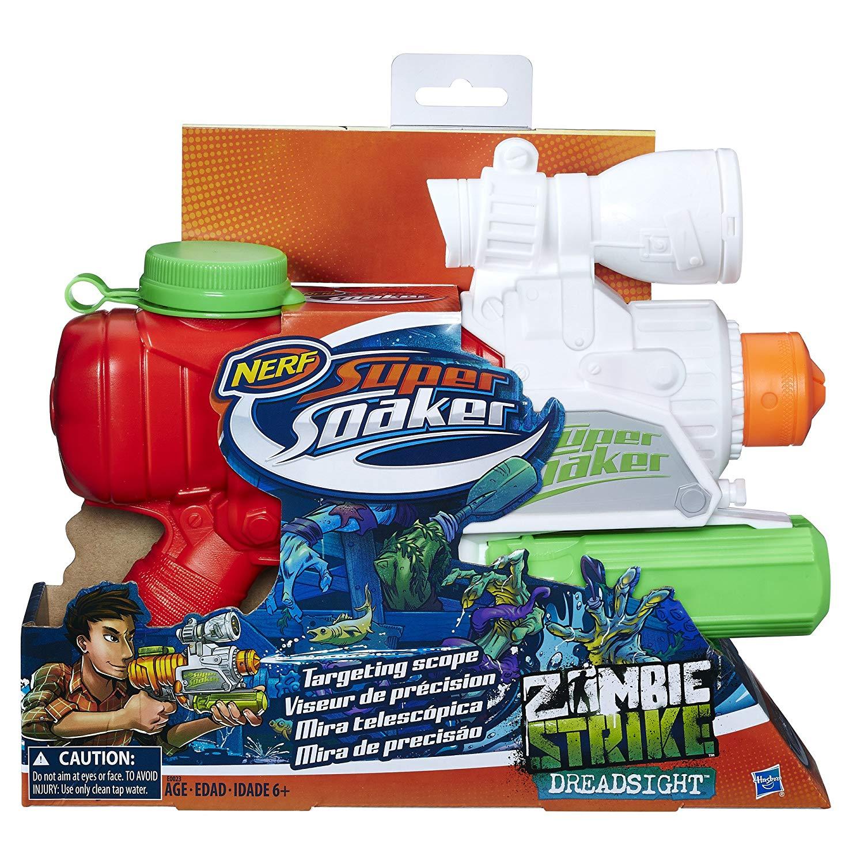 Hộp sản phẩm NERF SUPER SOAKER ZOMBIE STRIKE DREADSIGHT