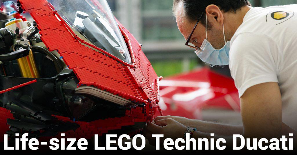 [Tin Tức] LEGO trình làng mô tô Ducati Panigale V4 R kích thước giống thực với các chi tiết Technic