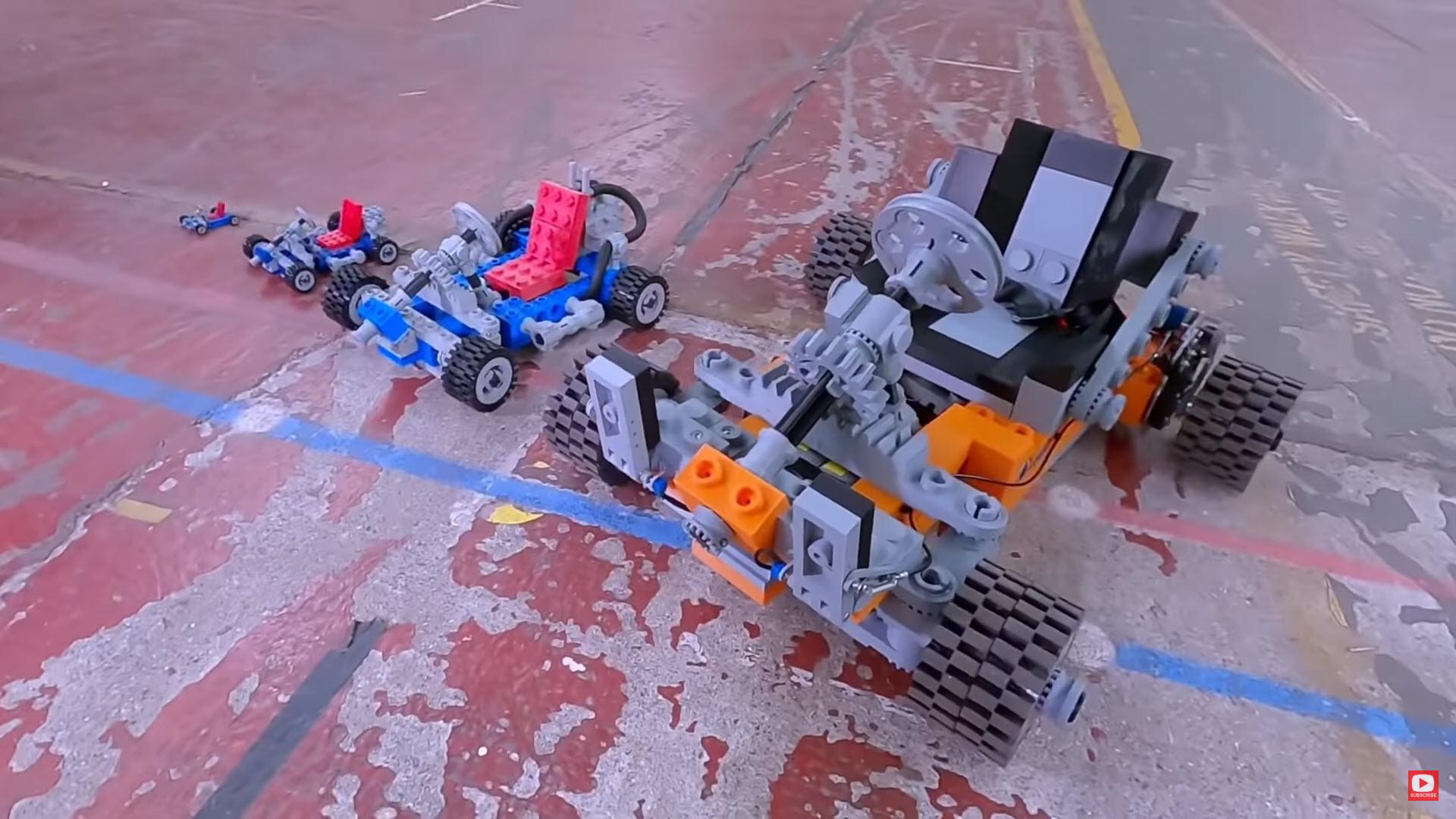 LEGO Go-Kart Một chiếc xe được in 3D với các linh kiện LEGO khổng lồ – Xe có thể chở người nhé!